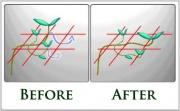 A hajtásokat lehet fűzni vagy egyszerűen visszabújtatni a következő lyuk alá.