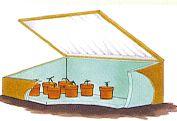 Mini greenhouse, előneveléshez, kintre